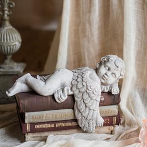 Sleeping Angel Vintage Continental Миниатюрный сад Декор феншуй Фигурка Garden Courtyard Villa украшения рабочего Детские Подарки