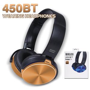 Bluetooth Derin Bas Kulaklık 450BT Mic ile Kablosuz Kulaklık Kulakiçi iPhone Samsung LG Huawei Xiaomi Için Iptal Gürültü Perakende Kutusu ile