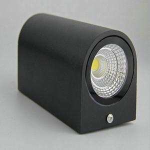 8 pçs / lote Dupla 2 * 5 W 2 * 7 W COB LED Ao Ar Livre Luz de Parede Ao Ar Livre LED Wall Lamp IP65 À Prova D 'Água Ao Ar Livre 3 Anos de Garantia