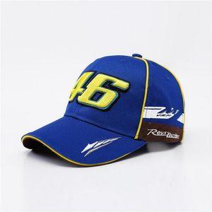 Fashion-MOTO GP 46 Мотоцикл 3D Вышитая F1 Racing Cap Мужчины Женщины Snapback Caps Rossi VR46 Бейсболка YAMAHA Шляпы