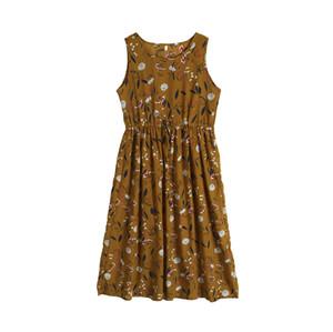 2019 Nouvelle arrivée d'été Femmes imprimé floral Robe sans manches Femme Robes longues Femme Mesdames vacances Casual longue Sundress