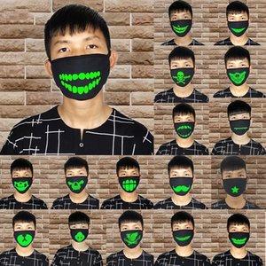 Женщина Мужчина Glow В Dark Skull испуганных Маски Черной маска Роты Половина лицо Маскарад Косплей маска DIY украшение партии