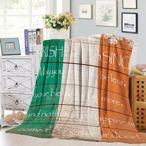 Nap Blanket Striped Creative Autumn and Winter Warm Sofa Blanket Digital Printing Double-Sided Flannel Airable