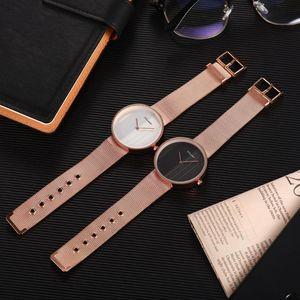 Nuovo stile fredda Pannello di orologio al quarzo Moda semplice due aghi che GGS Dai OROLOGIO Uomini paio femminile di
