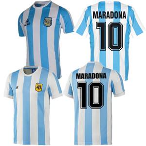 Versión retro 1986 Argentina el fútbol casero Jersey Messi Maradona CANIGGIA 1978 camiseta de fútbol de calidad Batistuta 1998