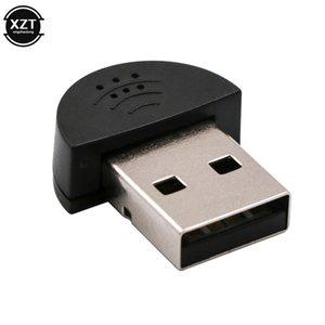 Microphones Super Mini USB 2.0 Microphone MIC Audio Adapter Portable Studio Speech Driver Free for Laptop Notebook PC MSN Skype