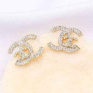 Sıcak Satış Accessori Of elmas küpe Toptan Of Avrupa Ve Amerika Mizaç Moda Mektupları Seti Full itibaren New Pearl Studs