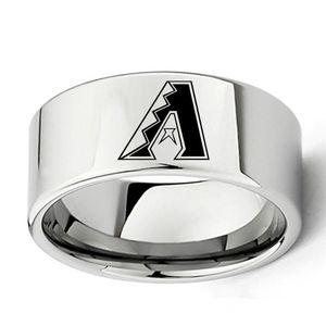 8MM Moda Europa e negli Stati Uniti squadra di baseball Arizona squadra Logo acciaio inox 5colors anello maschile anello impermeabile