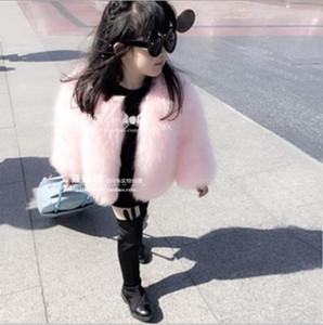Outono-Inverno casaco 2019 outwear para meninas faux fur jaqueta infantil manteau hiver adolescente filles crianças windbreaer S501