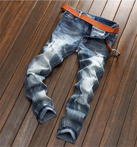 Jeans Mens Designer Fashion Jeans Holes Ripped Lumière Washed Pantalons Crayon classiques Hommes Casual Hommes Beggar