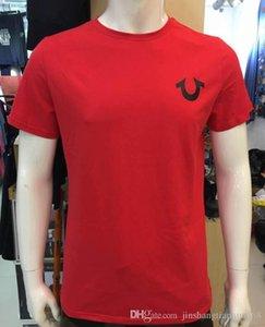T3 de alta qualidade EUA Red Preto Mens Branco Robin Verdadeiros Jeans Tripulação polo T-shirt com asas Jeans americano real mtorcycle Clube de Slim manga curta