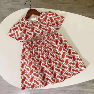 Девочки платье Дети отворотом колледжа Ветер Bowknot с коротким рукавом рубашки поло плиссе Юбка Дети Повседневная одежда Детская одежда 121107