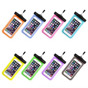 Universal Cover Waterproof Phone Case For iPhone 7 6S Coque Pouch Waterproof Bag Case For Samsung HUAWEI Phone Swim Waterproof Case (Retail)