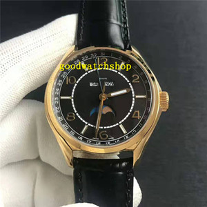 Caja de oro 18k Nuevo reloj cincuenta y seis 4000E 000A-B439 del reloj para hombre múltiple / Función Diseñador calendario fase de reloj automático Cal.898A Anual de la luna