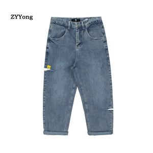 2020 Style Coréen Ripped Jeans Hommes Streetwear Mode Tooling Jeans Boyfriend japonais en vrac Salopette Homme