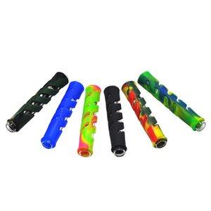 Silikon Glas Rohr Filter Umweltschutz Blenden Bunte Aushöhlen Rohre Mode Neue Muster Heißer Verkauf 4kq J1