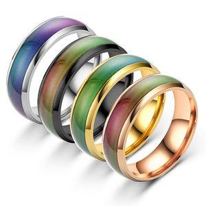 2020 New Disgn Temperatur die Farbe wechseln Mood Ring Heiße Verkaufs-Schmucksachen intelligente Discolor Ringe Bestes Geschenk für Freunde Verschiffen frei