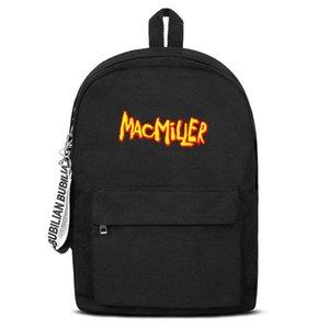 Klassische Most Dope MAC MILLER Logo Canvas Bookbag Basic Rucksack Haltbar und bequem School Student Sports Daypack Mac Miller Dang -
