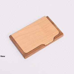 Wooden Business Card Holder Creative Fashion High Grade Solid Wood Multi Function Storage Box Gift For Friends RRA2521