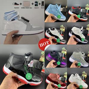 Kutu Anahtarlık Beyaz 11 Concord High 45 11s Basketbol Ayakkabıları 1 1'leri Yakınlaştırma yarışı Mavi UNC Space Jam düşünün 16 Erkek Tasarımcı Spor Sneakers Bred