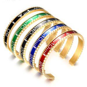 BC Jewelry Fashion Brazaletes Pulseras Pulsera de brazalete chapado vintage para hombres Pulsera de acero inoxidable Pulsera de velocímetro Venta al por mayor BC-127