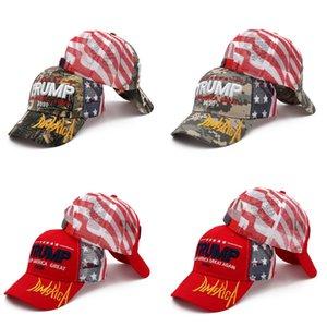 Donald Trump Beyzbol Şapkası Trump 2020 İşlemeli TUTUN AMERİKA BÜYÜK Kamuflaj Camo 20pcs Parti Şapkası OOA8053 Caps