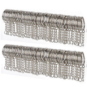 10 50pcs Metal Silver Blank Keyring Keychain Split Ring Keyfob Key Holder Pendant Rings Car Home DIY Key Chains Accessories