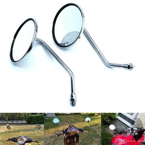 Pour M10 Vis Vue arrière en verre Montage latéral Set Miroirs pour Yamaha DT125 AT1 CT DS DT RD RS XS 125 175 200 100 250 350 360 400 500