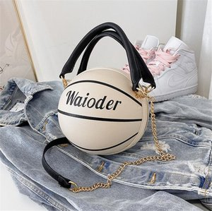 Le donne di pallacanestro di alta qualità borse a spalla in pelle Black Metal catena borse Borse Totalizzatore Pure Black Bag Borse # 43598