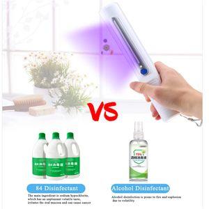2020 Traveling стерилизатор Портативный UV дезинфицирующее для рук Wand ультрафиолетовый свет убивает бактерии Микроб стерилизатор с розничной коробкой