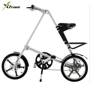 Original X-Front Brand light Aluminum Alloy folding bike load 110kg 14''   16'' rubber tire personality bicycle