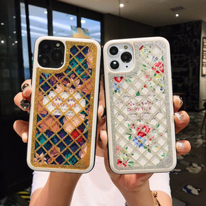 iPhone 11 pro maksimum Huawei Heavy darbeye olmayan su geçirmez arka kapak lüks Dantel tasarımcı telefonu durumlarda baskı Fashing bing gliter Bing