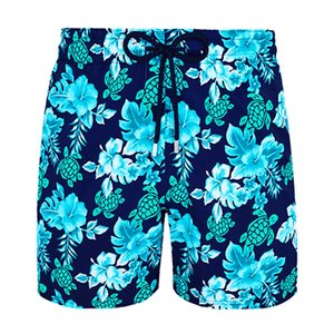 Vilebre Brand Board Shorts Men Bermuda Vilebre Turtle Printing Man Boardshort 100% Quick Dry Men's Swimwear V070221