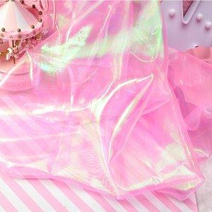 100 * 150 cm ducha iridiscente Tul mantel de tela Backdrops DIY para el bebé del tema del partido de la sirena de la boda decoración Mantel