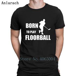 Llevado jugar Floorball camiseta del cumpleaños del resorte del otoño Camiseta del carácter del traje formal camiseta S-XXXL de construcción Loose