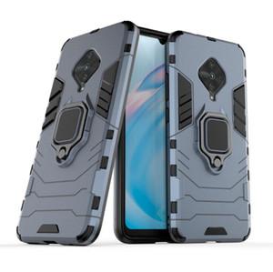 Para Vivo Y9S Caso Calidad Loop robusto soporte combinado híbrido armadura soporte Impacto Funda protectora de la cubierta para el BBK Vivo Y9S / S1 Pro
