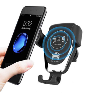 Qi Fast Car Charger senza fili per iPhone 8 8 Inoltre XS caricabatteria 7.5W 10W Bluetooth per auto per Samsung Galaxy S8 S9 S10 Nota 9 caricatore DHL