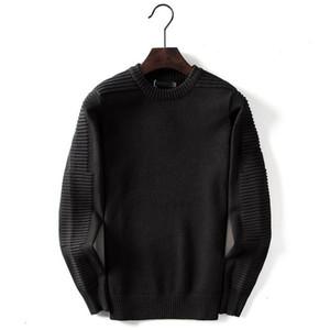 Diseñador mujeres de los hombres suéter de lana de lujo sólido ocasional de invierno suéter Marca blusa de manga larga SweatShirt Negro Gris M-2XL 99181CE