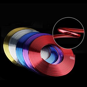 8M Rad / Felge dekorative Streifen Aufkleber Plating Auto-Rad-Aufkleber Hub Rim Leisten-Streifen-Schutz-Ring-Aufkleber