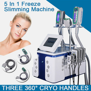 2020 Hot Sale 3 Cryo Handles Cryolipolyse Fat Freeze Slimming Cryolipolysis Equipment With 360° Double Chins Treatment Handle Ce Approved