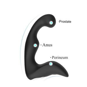 Male Masturbation Prostate Massager G-Spot Vibrator Silicone Anal Butt Plug Sex Toys For Men Sex Shop PY756