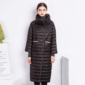 2020 Winter Coat Women Down Jacket Ultra-light 90% Duck Down Coat Female Long Double-Sided Parka chaqueta mujer WYQ858