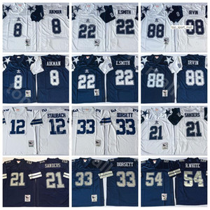 NCAA Football 21 Vintage Deion Sanders Jersey 8 Troy Aikman 22 Emmitt Smith 33 Tony Dorsett Randy White Michael Irvin Roger Staubach Navy