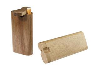 الطبيعي خشبي واحد الضارب المخبأ الأنابيب المصنوعة يدويا الخشب المخبأ مع السيراميك مرشحات أنابيب السجائر أنابيب التدخين أنابيب خشبية المخبأ الأنابيب صندوق