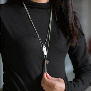 2.020 populares Bonita Choker Hip hop pingente cadeia colares multicamadas para colar de aço inoxidável Mulheres Homens