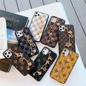 Leather Cell Phone Case For iphone 11 XR XS With Chain Accessories Fitted 7 Colors Cases Soft Protector