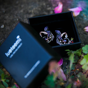 LUOTEEMI Best Selling Unique New Arrival Jewelry High Quality Clear Multi CZ Phoenix Stud Earrings for Women Wedding Brincos