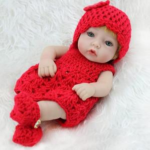 Водонепроницаемость 10 дюймов 28 см полный винил силикон возрождается милые куклы настоящие купания кукла маленькие дети игрушки день рождения рождественские подарки