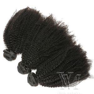VMAE малазийского Remy Девы волос Afro Kinky завитого Уток Natural Soft 3 Связки 4A 4B 4C завитые переплетения человеческих волос чернокожих женщины
