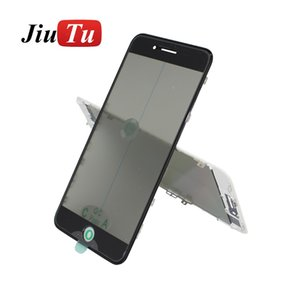 4 in 1 Cold Press Pre-install Front Glass with Frame+OCA +Polarizer For iPhone 8 8plus 7 7plus 6s Cracked LCD Screen Replacement